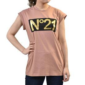 ヌメロヴェインティウノ プリントTシャツ No.21 F02141571 ピンク 母の日 プレゼント ギフト