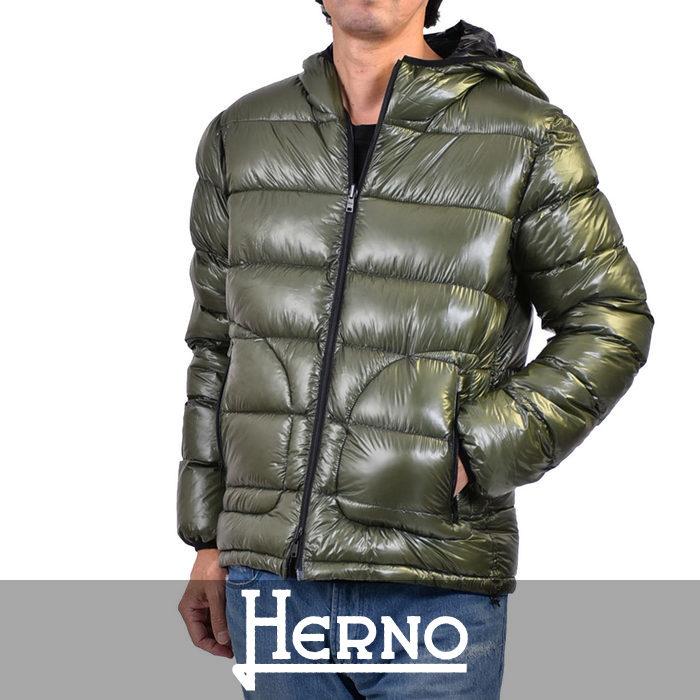 ヘルノ リバーシブル ダウンジャケット HERNO PI0520U 19328 7700 グリーン 【メンズ】