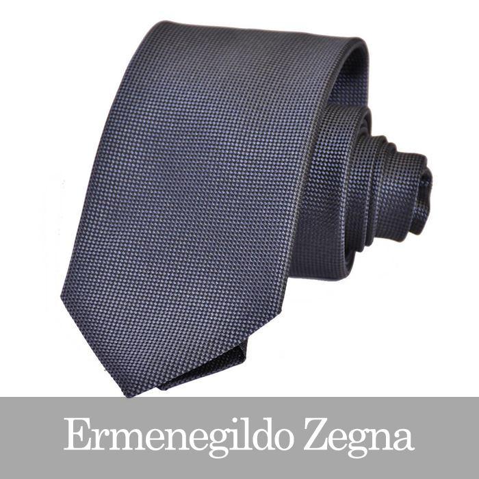 エルメネジルドゼニア ネクタイ ERMENEGILDO ZEGNA Z4D00 1L8 B ダークグレー 【メンズ】