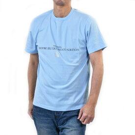 ゴールデングース LOGO Tシャツ GOLDEN GOOSE G34MP524 A4 ブルー ギフト プレゼント 父の日 ギフト