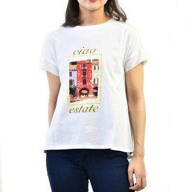 マレーラ スポーツ プリントTシャツ MARELLA SPORT SGUSCIO 39410195250 002 ホワイト 【ポイント10倍】