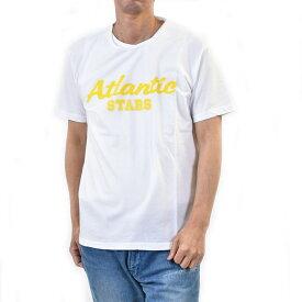 アトランティック スターズ メンズ 半袖 Tシャツ ATLANTIC STARS AMS1925 5 ホワイト/イエロー ギフト プレゼント
