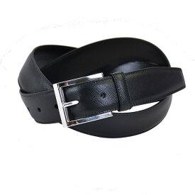プラダ サフィアーノレザー ベルト PRADA 2CC009 053 F0002 ブラック メンズ ビジネス