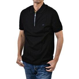 フェラガモ メンズ 半袖 ポロシャツ ガンチーニ FERRAGAMO 12 6153 ブラック ゴルフ