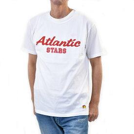 アトランティック スターズ メンズ 半袖 Tシャツ ATLANTIC STARS AMS1925 2 ホワイト/レッド