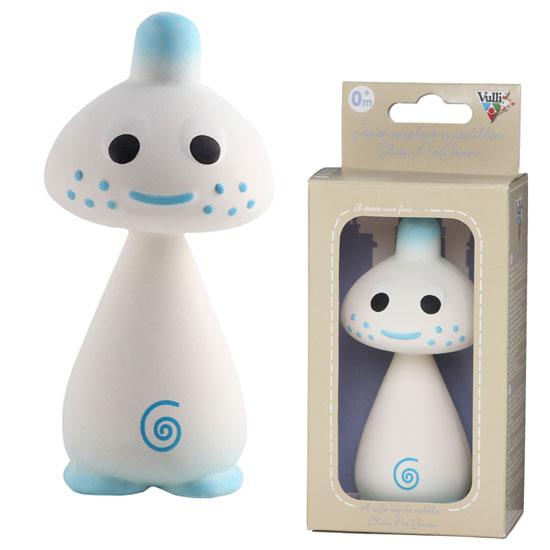 Vulli ヴュリ社 Chan シャン〜キリンのソフィーのお友達、マッシュルームの形をしたシャンとピーとニオン。ソフィーと同じ、100%天然ゴム製のお人形です。