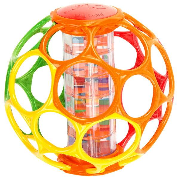オーボール レインスティック〜中にレインスティック(レインボーメーカー)が入ったオーボールラトルです。ビーズの音や動きを楽しむことができます。