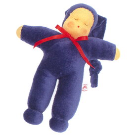 Heidi Hilscher ハイデ ヒルシャー Schlummerle シュルマーレ 青色〜ドイツの小さな街ウルムに工房をかまえるハイデ ヒルシャーの手作りのお人形です。自然素材で作られています。