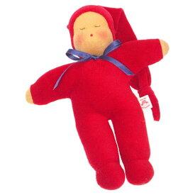 Heidi Hilscher ハイデ ヒルシャー Schlummerle シュルマーレ 赤色〜ドイツの小さな街ウルムに工房をかまえるハイデ ヒルシャーの手作りのお人形です。自然素材で作られています。