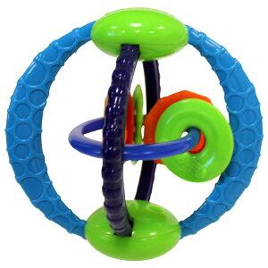 オーボール ツイストオラウンド〜オーボール・シリーズのたくさんのカラフルなリングがついたユニークな形のラトルです。