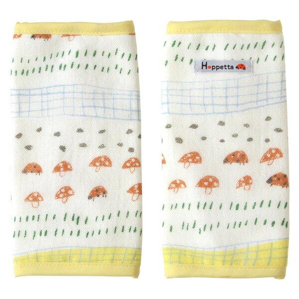 [メール便可] Hoppetta ホッペッタ tanta(タンタ) ふわガーゼ サッキングパッド てんとう虫〜Hoppettaのタンタ・シリーズのサッキングパッド。赤ちゃんの肌を守り、汚れも防ぐベビーキャリーのベルトカバーです。