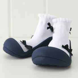 Baby Feet ベビーフィート Ballerina-Navy バレリーナ ネイビー〜女の子のためのBabyFeet(ベビーフィート)ができました♪ベビーフィートは生体力学研究に基づき作られたベビーシューズです。