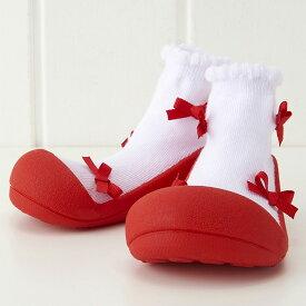 Baby Feet ベビーフィート Ballerina-Red バレリーナ レッド〜女の子のためのBabyFeet(ベビーフィート)ができました♪ベビーフィートは生体力学研究に基づき作られたベビーシューズです。