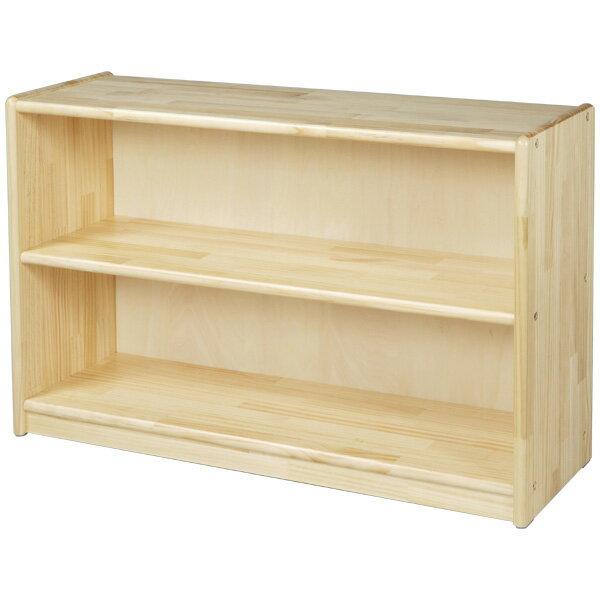 ブロック社 白木棚<小>背板付〜幼稚園・保育園にオススメなブロック社の木製子供用収納家具。収納に便利な白木棚です。