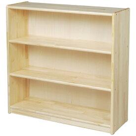 ブロック社 白木棚<大>背板付〜幼稚園・保育園にオススメなブロック社の木製子供用収納家具。収納に便利な白木棚です。