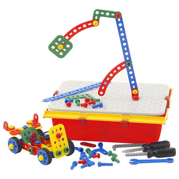 BorneLund ボーネルンド ケルチェッティ ビルダーキット テクノ ツールボックス〜イタリア・ケルチェッティ社の子どもの大好きな「ネジ」と「工具」が、持ち運びできるツールボックスに入った組み立て遊び工具セットです。本格的な大工さんごっこを楽しめます。