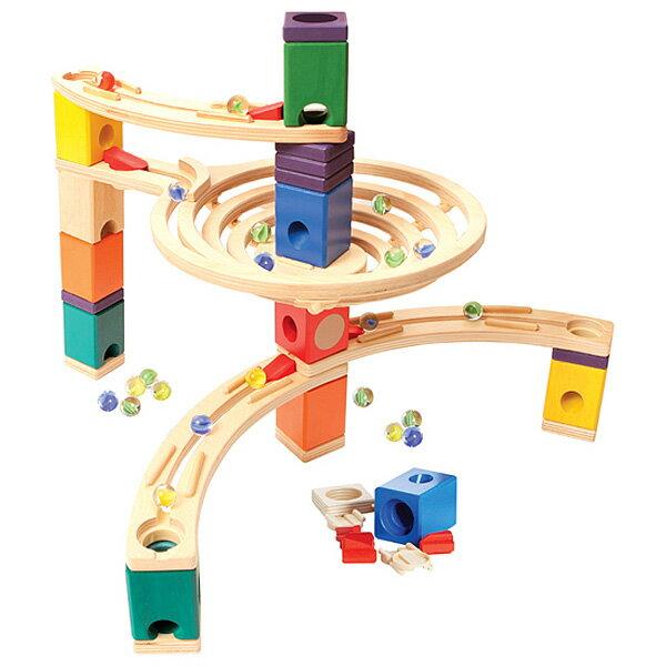 BorneLund ボーネルンド NEW クアドリラ・ベーシックセット〜ピタゴラ装置みたいなおもちゃ。少ないパーツでシンプルなスロープが作れるクアドリラの基本セットです。