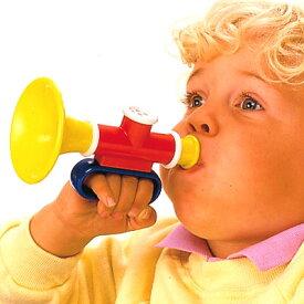 BorneLund ボーネルンド Ambi Toys アンビ・トーイ トランペット〜モダンデザインのベビートイ・ブランド、アンビ・トーイの吹いても吸っても音を鳴らせるシンプルで持ちやすい、1歳から遊べる子供用のラッパです。