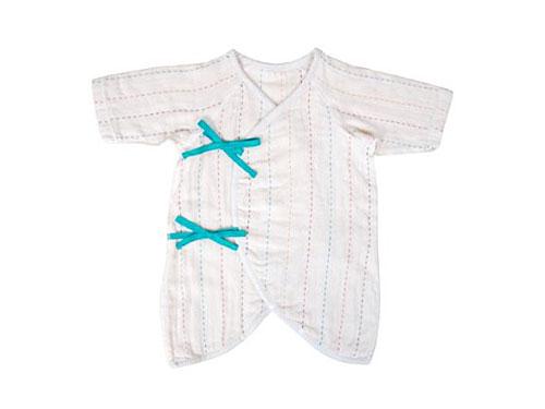 [メール便可] BOBO ボボ 3重ガーゼコンビ肌着〜赤ちゃんが生まれる前に揃えておきたい肌着。赤ちゃんの肌にやさしい3重織のガーゼを使用しています。