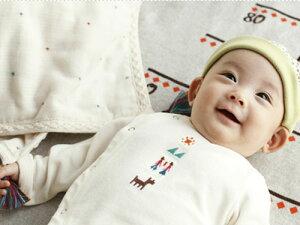 [メール便可] BOBO ボボ 2wayドレス〜前開きで寝かせたまま着せられるので、生まれたての赤ちゃんにも着せやすいBOBOのツーウェイオールです。
