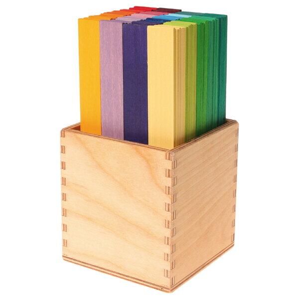 Grimm's Spiel & Holz Design グリムス社 カラースティック 100P〜ドイツ、グリムス社の色鮮やかなカラースティック。積み重ねるとドームや橋が作ることができます。
