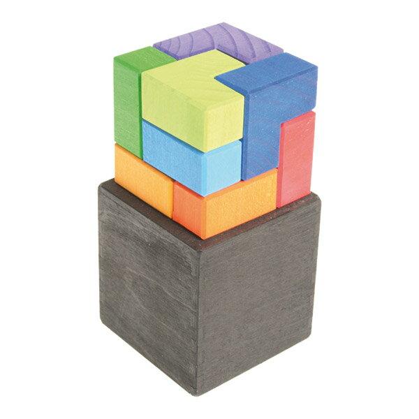 Grimm's Spiel & Holz Design グリムス社 GMキューブ エル キューブボックス 9P〜ドイツ・グリムス社の美しい色彩のL字型キューブパズル9ピース。立体的な造形遊びが創造的に楽しめます。