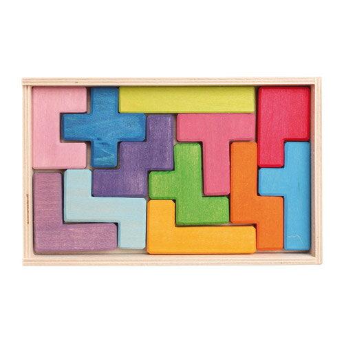 Grimm's Spiel & Holz Design グリムス社 ペントミノ 12P〜ドイツ・グリムス社の美しい色彩のキューブパズル12ピースです。立体的な造形遊びが創造的に楽しめます。