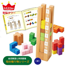 Ed.inter エドインター 育脳タワー 知の贈り物シリーズ ~ Ed.inter(エドインター)の幼児教室と共同開発した「考える」楽しさを知る、「考える」が好きになるおもちゃ「知の贈り物シリーズ」。