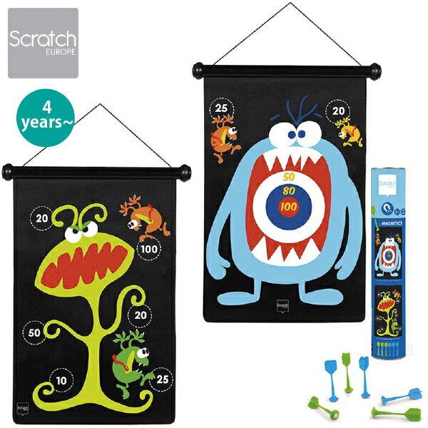Scratch スクラッチ マグネティックダーツ モンスター 4歳、5歳の男の子、女の子の誕生日、クリスマスのプレゼントに人気。ベルギー生まれのScratch スクラッチのおもちゃです。