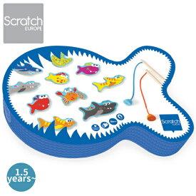 Scratch スクラッチ フィッシュゲーム デンジャラスフィッシュ ハーフバースディ、1歳、2歳の男の子、女の子の誕生、クリスマスプレゼントに人気。ベルギー生まれのScratch スクラッチの知育玩具。