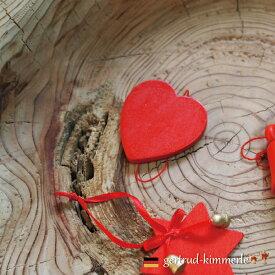 Kimmerle キマール社 クリスマス 木製オーナメント ハート 5cm
