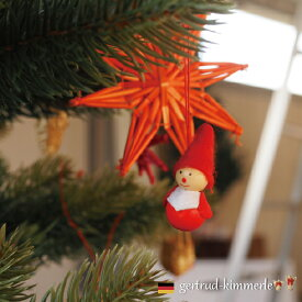 Kimmerle キマール社 クリスマス 木製オーナメント サンタミニ 3cm