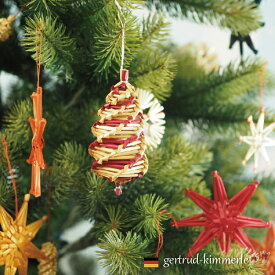 Kimmerle キマール社 クリスマス ストローオーナメント ツイストレッド 10cm
