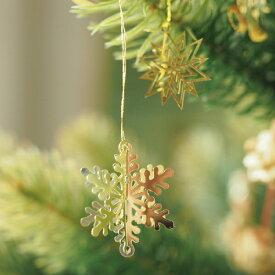 Kimmerle キマール社 クリスマス ゴールドオーナメント 立体 雪の結晶 3cm
