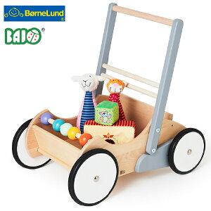 Bornelund ボーネルンド BAJO バヨ ベビーウォーカー ホワイト&グレー 木製手押し車 BAJO バヨ社の、男の子、女の子の出産祝いやハーフバースデイ、1歳、2歳の誕生日やクリスマスプレゼントに