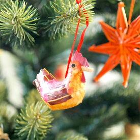 [メール便可] Kimmerle キマール社 クリスマス 木製オーナメント オレンジにわとり 6.5cm〜ドイツ・キマール社のニワトリの木製クリスマスオーナメント。クリスマスツリーの飾りにオススメ♪