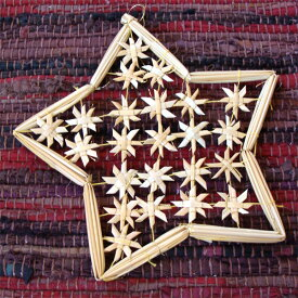 [メール便可] Kimmerle キマール社 星のクリスマス ストローオーナメント 大〜ドイツ・キマール社のクリスマスツリーにぴったりな星のストローオーナメントです。