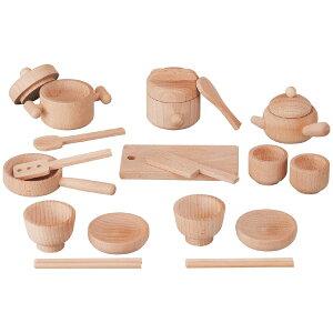 平和工業 Mocco モッコ 森のお食事セット〜日本製の木のおもちゃMocco(モッコ)シリーズ。ナチュラルなおままごと料理道具&食器セットです。