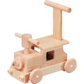 平和工業 Mocco モッコ 森の汽車ポッポ〜日本製の木のおもちゃMocco(モッコ)シリーズ。手押し車としても使える汽車の木製足けり乗用玩具です。