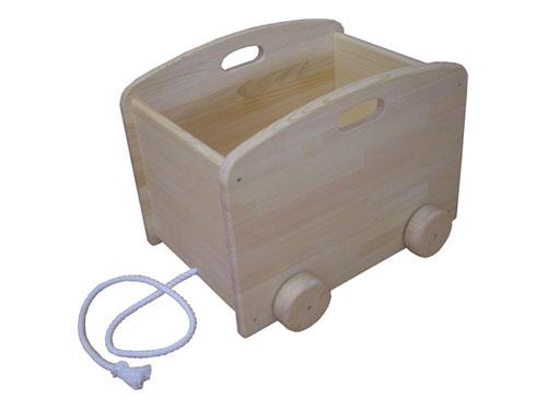 木遊舎 ひのきの大きな箱車〜乗って遊べる!引っ張って遊べる!押して遊べる!いろいろ遊べる白木仕上の箱車です。【ラッピング不可】【代引き決済不可】
