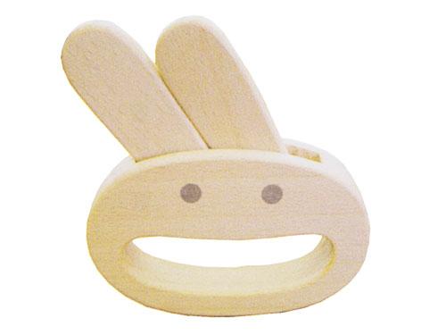 """[メール便可] 木遊舎 ガラガラ ウサギ """"Usagi""""〜木遊舎の良質なブナ材を使用した""""芽生えシリーズ""""のナチュラルな木製ガラガラ(ラトル)です。"""