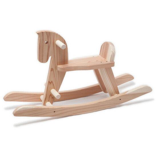 木遊舎 スギ木馬(完成品)〜木遊舎の愛媛県産スギ材のをふんだんに使用したナチュラルな国産の木馬です。【ラッピング不可】【代引き決済不可】