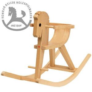 Konrad Keller ケラー社 枠付木馬のペーター 白木〜ペーターの愛称を持つドイツのおもちゃメーカーKonrad Keller(ケラー社)の人気の木馬(ロッキングホース)です。枠は取り外しができます。