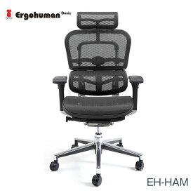 マラソンポイント8倍 エルゴヒューマン チェアー EH-HAM Ergohuman 人間工学 多機能 メッシュ ハイタイプ オフィス 高品質 KM11 【送料無料】