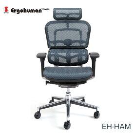 マラソンポイント8倍 エルゴヒューマン チェアー EH-HAM Ergohuman 人間工学 多機能 メッシュ ハイタイプ オフィス 高品質 KM15 【送料無料】