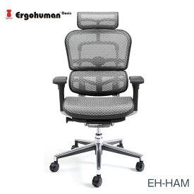マラソンポイント8倍 エルゴヒューマン チェアー EH-HAM Ergohuman 人間工学 多機能 メッシュ ハイタイプ オフィス 高品質 KM16 【送料無料】