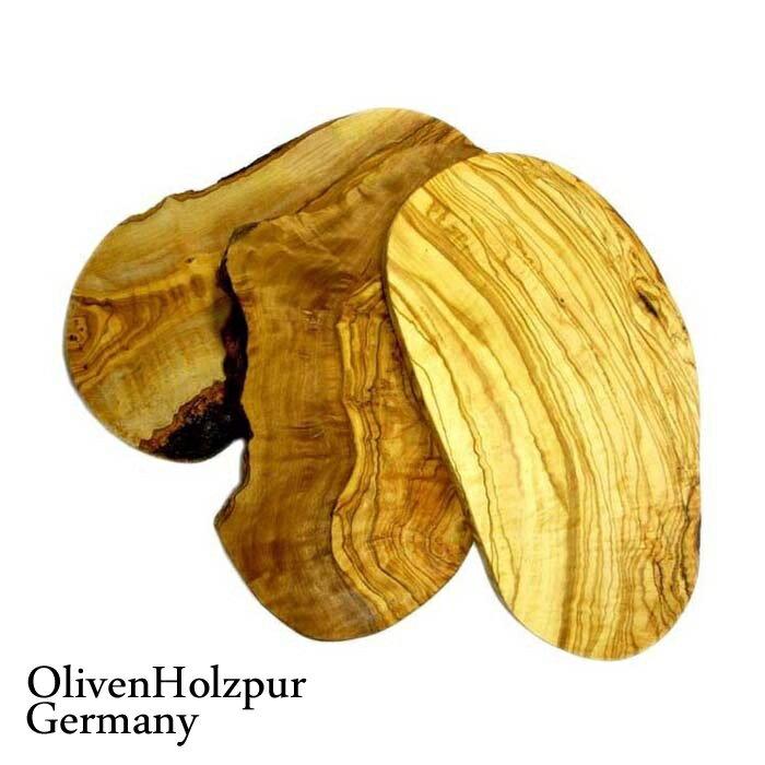 【木のまな板木製まな板オリーブウッドカッティングボード】オリフェン・ホルツプア OlivenHolzpur オリーブの木まな板(30x17x2cm) 変形ナチュラル #BN30【木製まな板ウッドブレッドボードチョッピングボードオリーブの木まな板木製トレートレイ】