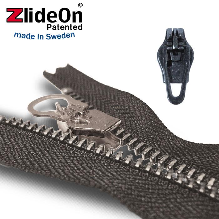 ズライドオン ZlideOn 3B-2 ブラック 角プルタブ 【ファスナー・ジッパー・スライダー・チャックの簡単修理ツール】【動画】