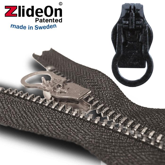 ズライドオン ZlideOn 8C-1 ブラック 丸プルタブ 【ファスナー・ジッパー・スライダー・チャックの簡単修理ツール】【動画】【5400円以上お買い上げで送料無料】