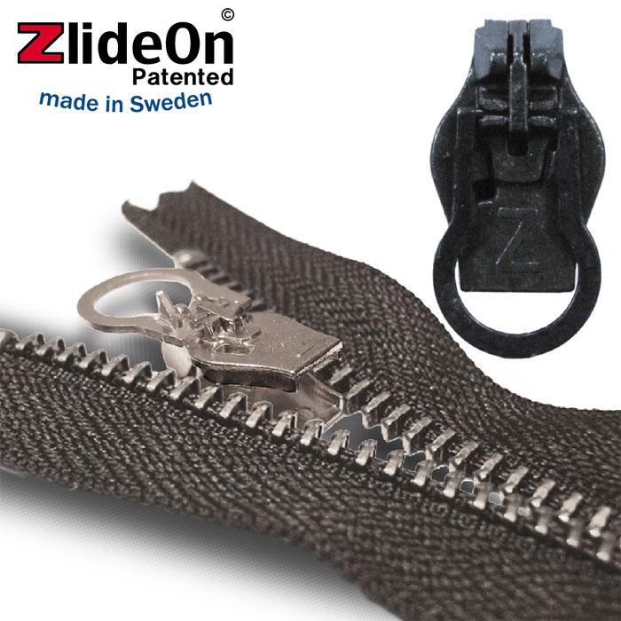 ズライドオン ZlideOn 10A-1 ブラック 丸プルタブ 【ファスナー・ジッパー・スライダー・チャックの簡単修理ツール】【動画】